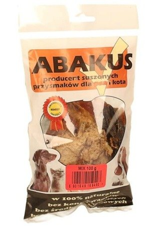 Abakus Mix 100 g kurze łapki, wieprzowe ucho, wątroba, płuco