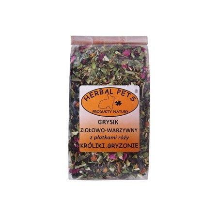HERBAL Pets Grysik ziołowo warzywny z płatkami róży 100 g