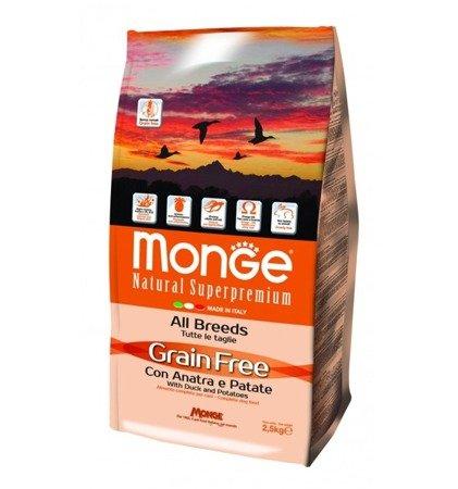 Monge Grain Free Adult Kaczka z Ziemniakami bezzbożowa 12 kg