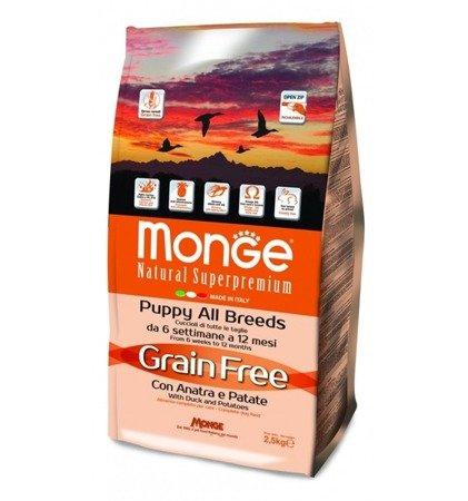 Monge Grain Free Puppy Kaczka z Ziemniakami bezzbożowa 2,5 kg