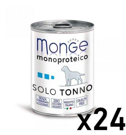 Monge Monoprotein Tuńczyk ZESTAW 24 sztuk