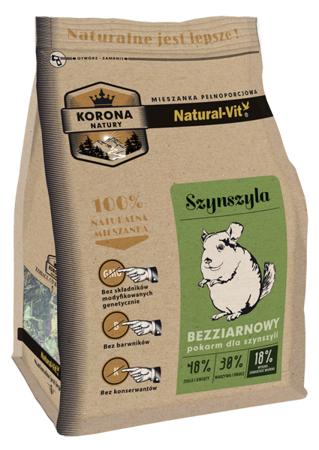 Natural-Vit Karma pełnoporcjowa dla SZYNSZYLI 750 g Korona Natury