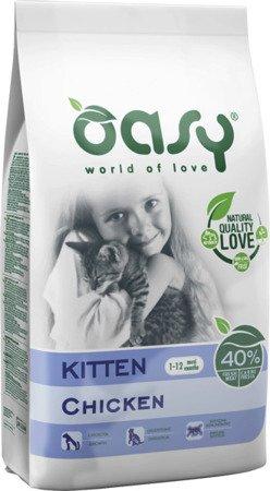 OASY DRY CAT Kitten - Kurczak 1,5 kg