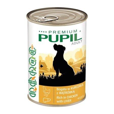 PUPIL Premium bogata w kurczaka z wątróbką 415 g