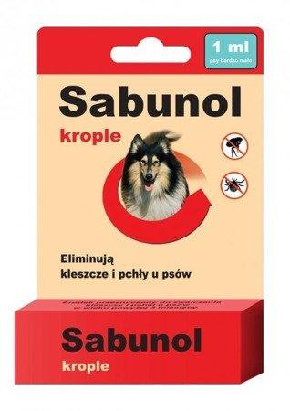 Sabunol Krople na Pchły i Kleszcze 1 ml dla psów do 10 kg