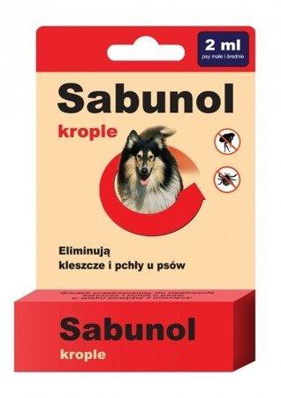 Sabunol Krople na Pchły i Kleszcze 2 ml dla psów od 10 do 20 kg