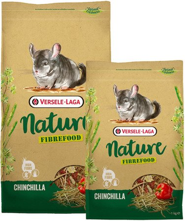 Versele Laga Chinchilla Nature Fibrefood 1kg - pokarm LIGHT/SENSITIVE dla szynszyli